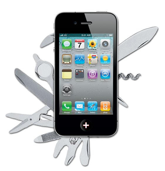 Swiss army iphone