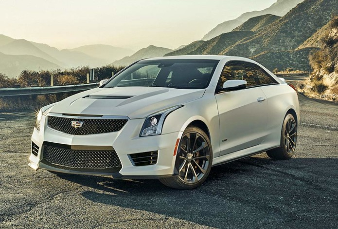Trackside with Cadillac's new 464 horsepower ATS-V coupe and sedan
