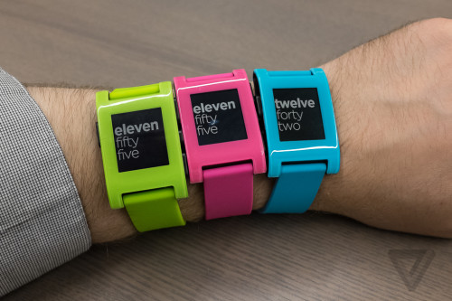 Pebble smartwatch comes in super fly blue, green and pink for a limited time