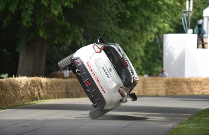 Nissan Juke Nismo RS sets 2 wheel mile-long driving record