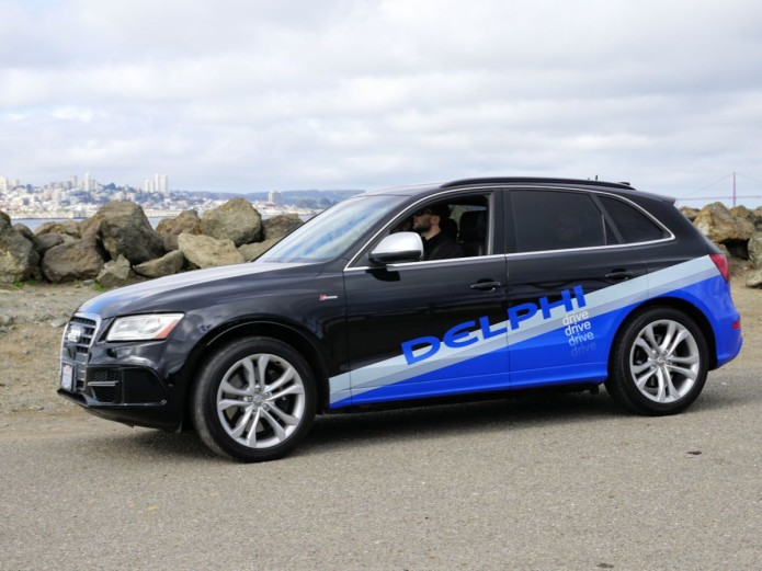 Self Driving Demolition Derby Delphi Says It Was Cut Off