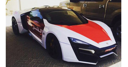 Abu Dhabi police get Lykan HyperSport for patrol fleet