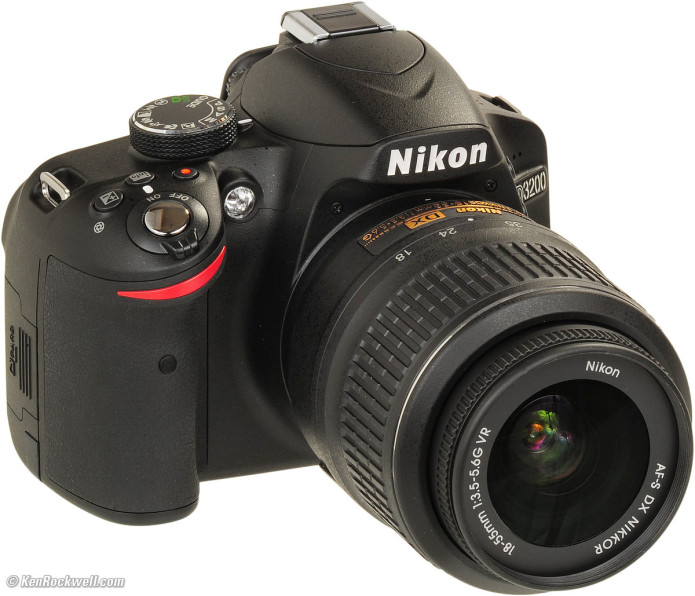 Nikon D3200 (with 18-55mm VR lens)