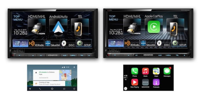 Kenwood begins shipping multimedia receivers with CarPlay, Android Auto support