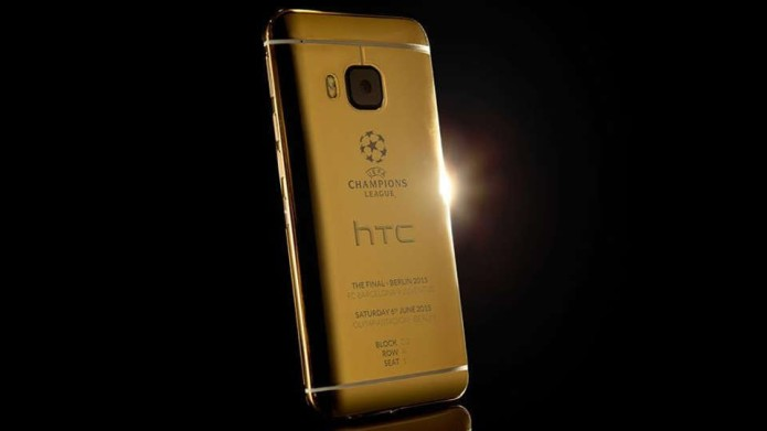 iPhone used for promo photo of HTC's 24K-gold One M9