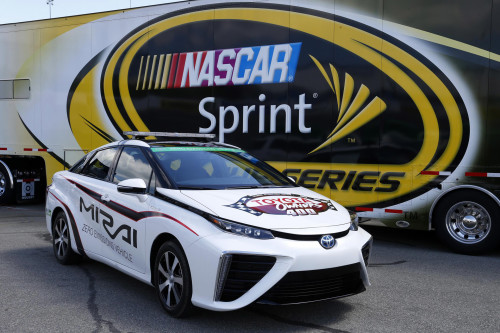 Toyota Mirai becomes first fuel-cell vehicle to serve as NASCAR pace car