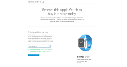 Apple Watch available in-store in Australia, UK