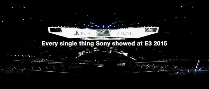 Sony's entire E3 2015 Wrap-up : Game Trailers Galore