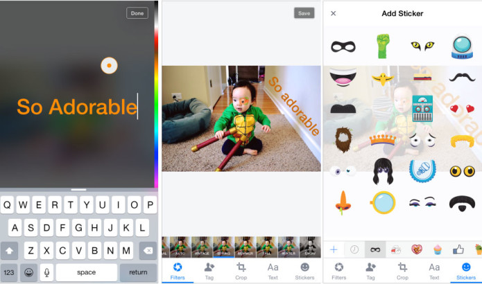 Facebook wants to give your photo uploads a Snapchat-like flair