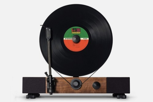 With A Vertical Platter, The Floating Record Makes Playing Vinyl An Entirely New Experience