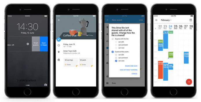iPhone users can attach Drive files on Google Calendar