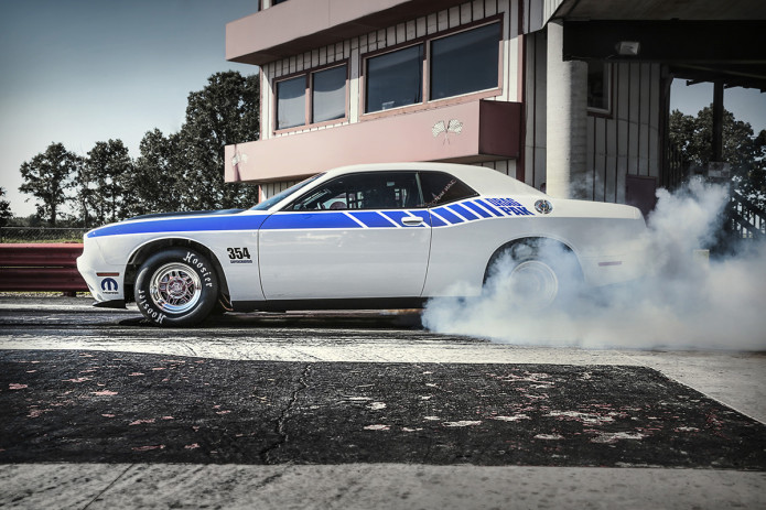 Mopar made this retro drag monster from Dodge's Challenger