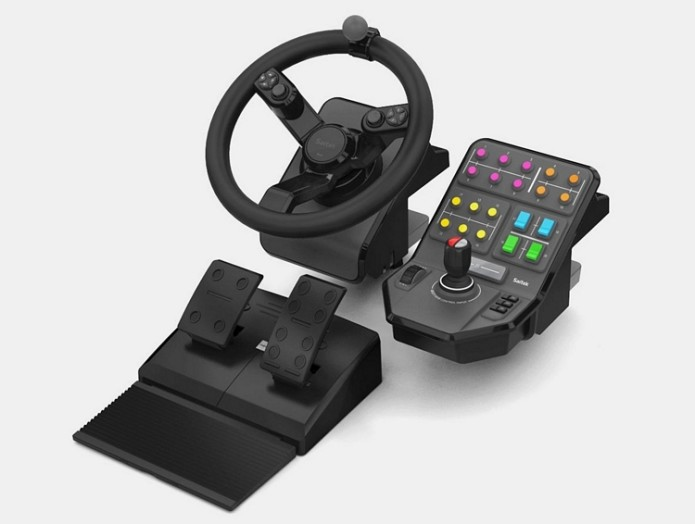 Turn Your Gaming Desk Into An Agricultural Tractor With Saitek's Farming Simulator Bundle