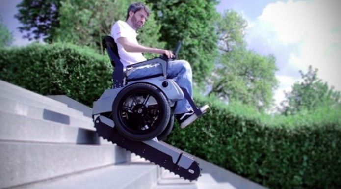 Scalevo Wheelchair Can Climb Up And Down The Stairs