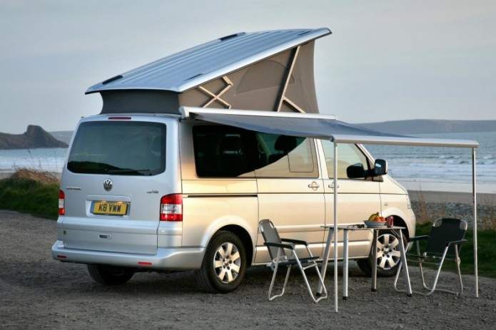vw california camper has everything even the kitchen sink gearopen. Black Bedroom Furniture Sets. Home Design Ideas