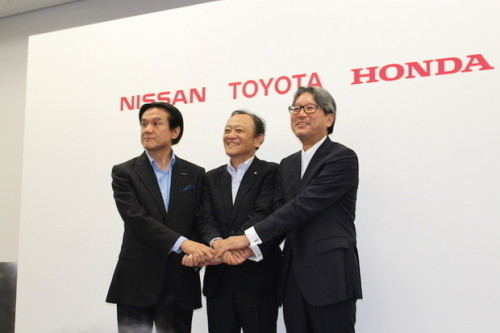 Toyota, Nissan, Honda back hydrogen stations for fuel cells