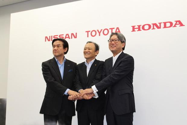 Toyota, Nissan, Honda back hydrogen stations for fuel cells