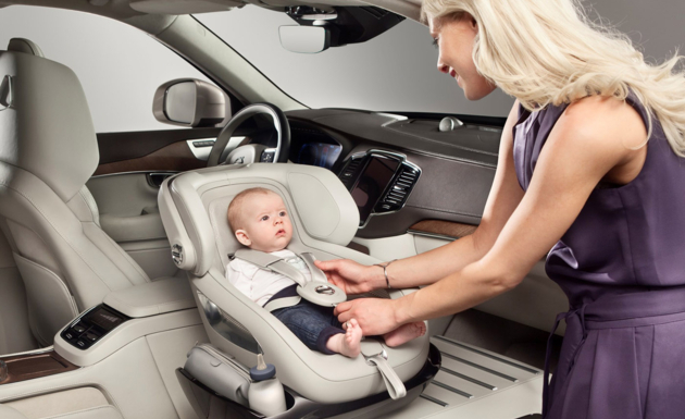 Volvo unveils nifty child-seat concept