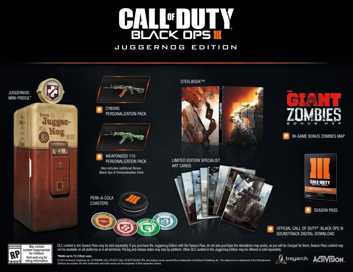 Call Of Duty: Black Ops III collector's edition comes with a free fridge