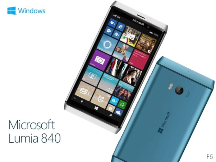 Microsoft Lumia 840 render with detailed specs
