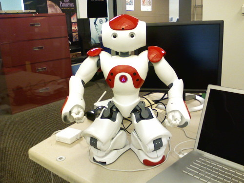 NAO robot becomes self-aware very briefly
