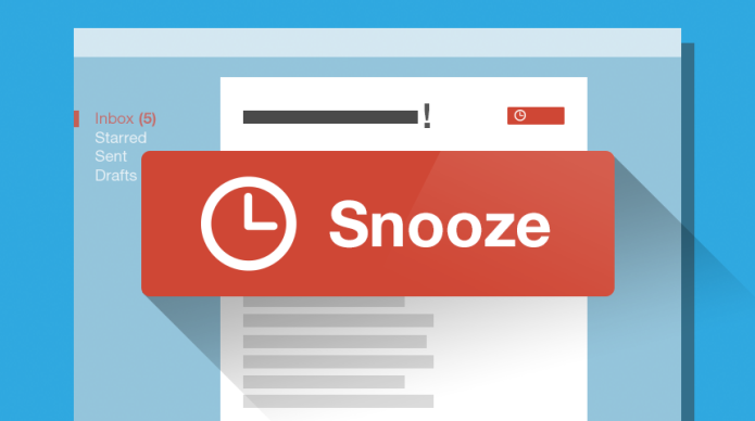 Gmail Snooze in Inbox brings things to the top when you need them
