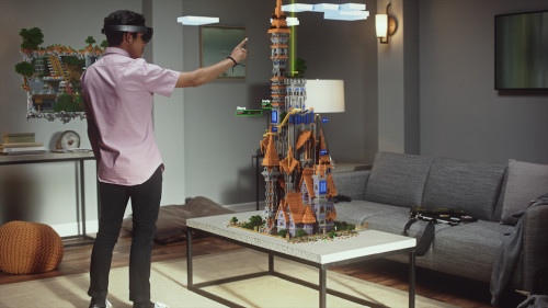 I played 'Minecraft' with Microsoft's HoloLens