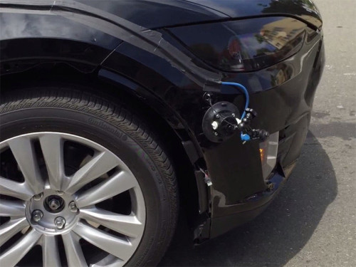 Tesla Model X prototype spied in California with strange sensors adorning
