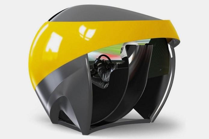 TL3 Racing Simulator Has A 200-Degree Wraparound Display