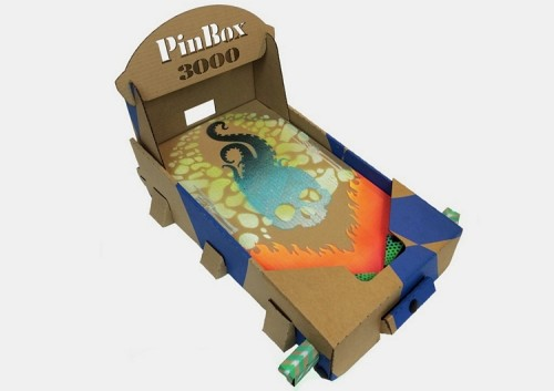 PinBox 3000 Is An All-Cardboard Pinball Game With A Customizable Play Board