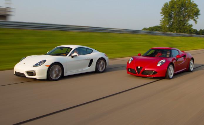 2015 Alfa Romeo 4C vs. 2014 Porsche Cayman - Comparison Tests