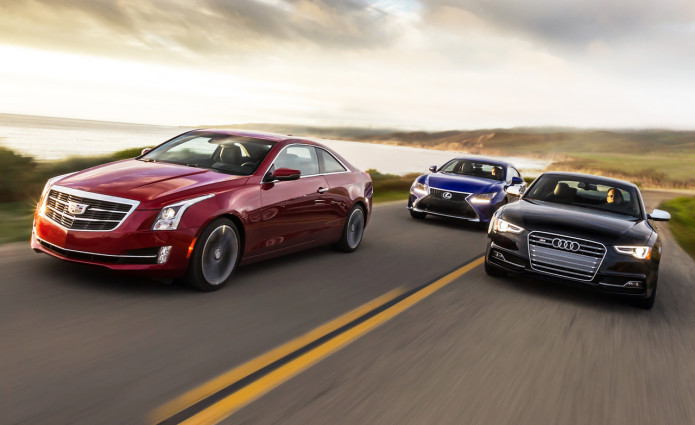 2015 Audi S5 vs. Cadillac ATS Coupe 3.6, Lexus RC350 F Sport - Comparison Tests
