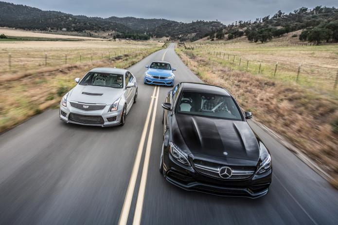2015 BMW M3 vs. 2015 Mercedes-AMG C63 S, 2016 Cadillac ATS-V