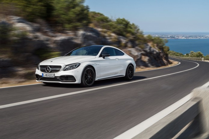 2017 Mercedes AMG C63 Coupe bi-turbo V8 makes up to 503hp