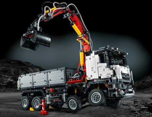 LEGO's New Mercedes-Benz Arocs Set Comes With Pneumatic Crane Arm, Moving Dump Truck Parts, And More