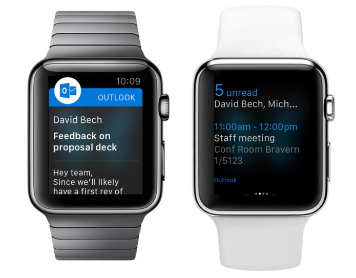 Microsoft Outlook goes to Apple Watch with app update