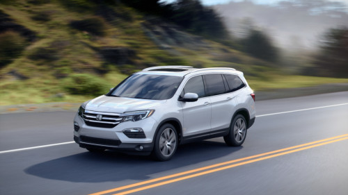 2016 Honda Pilot destroyed in IIHS small overlap crash test