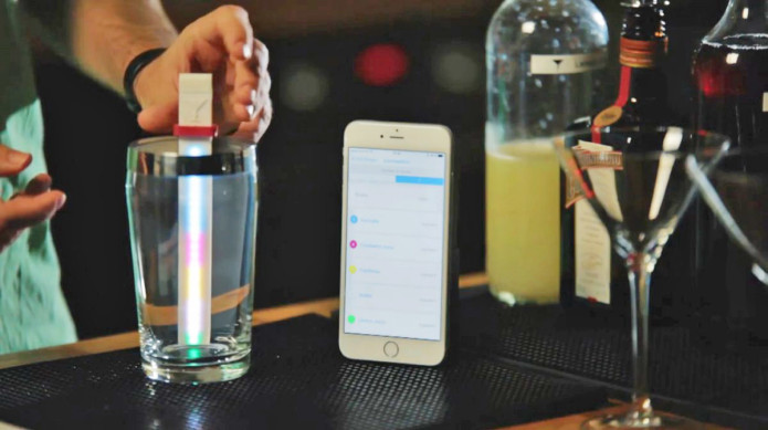 Make better cocktails with this LED-covered Bluetooth stick