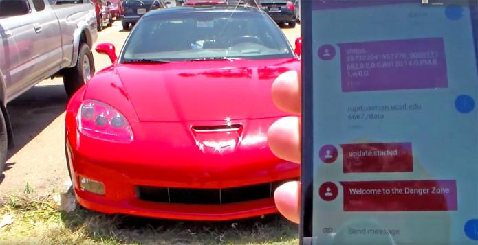 corvette-text-message-attack