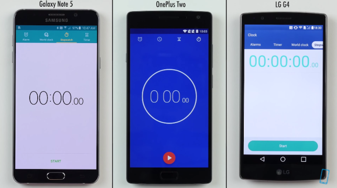 Galaxy Note 5, OnePlus Two, LG G4 three-way speed test sees who's fastest