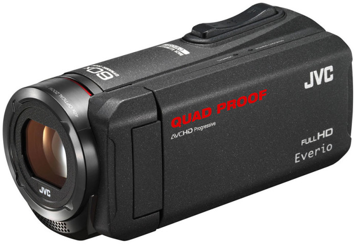 JVC GZ-R450 and GZ-R320 camcorders survive water, drops, and shock
