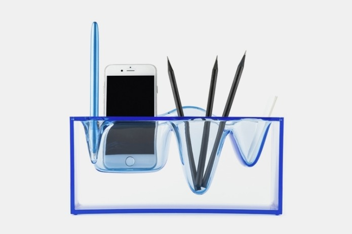 Liquid Station Desktop Organizer Makes Your Office Supplies Look Like They're Suspended In Ice