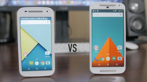 Moto G 2 vs Moto E 2: What's the Difference?