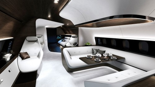 MERCEDES-BENZ DESIGN THE LATEST INTERIOR FOR PRIVATE JETS