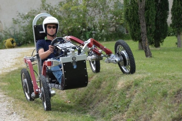 Swincar ATV Uses Spider-Like Suspension And Tilting Wheels To Handle The Most Insane Terrains