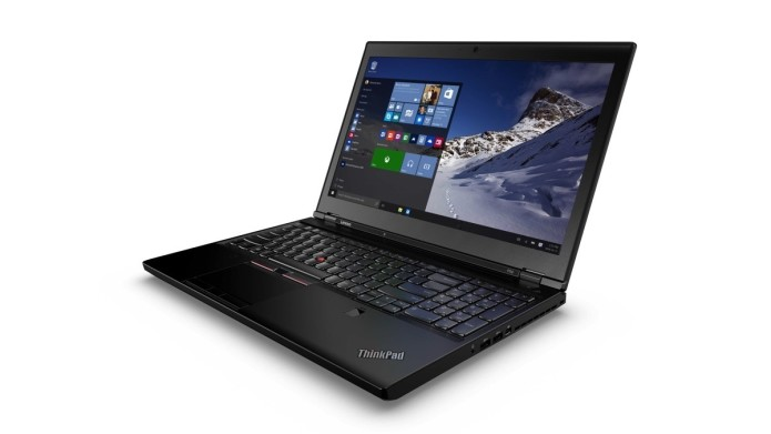 The first Skylake laptops are Lenovo's Thinkpad P50 and P70 graphics workstations