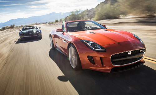 2014 Chevrolet Corvette Stingray Convertible vs. 2014 Jaguar F-type V-8 S – Comparison Tests