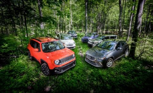 Mazda CX-3 AWD vs. Fiat 500X AWD, Honda HR-V AWD, Jeep Renegade 4×4, Chevrolet Trax AWD, Kia Soul – Comparison Tests