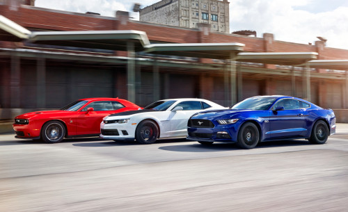 2015 Ford Mustang GT vs. Chevrolet Camaro SS 1LE, Dodge Challenger R/T Scat Pack – Comparison Tests