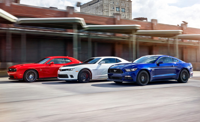2015 Ford Mustang GT vs. Chevrolet Camaro SS 1LE, Dodge Challenger R/T Scat Pack - Comparison Tests